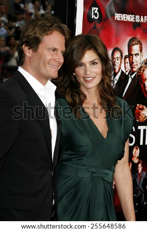 "Rande Gerber and Cindy Crawford attend the Los Angeles Premiere of ""Ocean's Thirteen"" held at the Grauman's Chinese Theatre in Hollywood, California, on June 5, 2006."