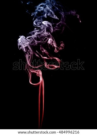 Random abstract smoke patterns on a black background.