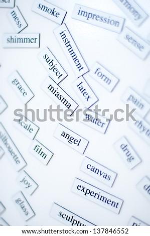 random english words for students of English - stock photo