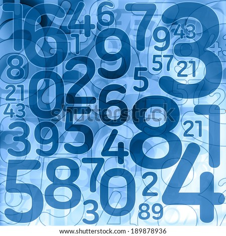 random lottery number background illustration - stock photo