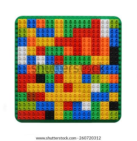 Random organised blocks - stock photo