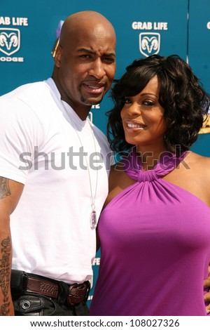 Randy Ritchwood and Niecy Nash  at the BET Awards '08. Shrine Auditorium, Los Angeles, CA. 06-24-08