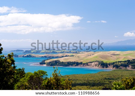 Rangitoto Island New Zealand - stock photo