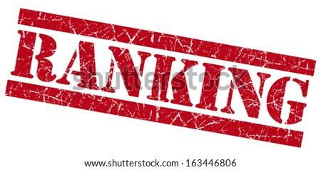 Ranking grunge red stamp - stock photo
