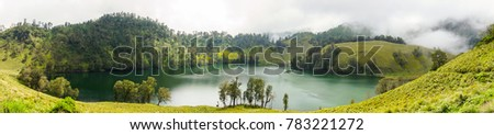 ranu kumbolo lake panoramic view