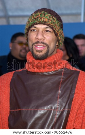 Rap singer COMMON at the 43rd Annual Grammy Awards in Los Angeles.  21FEB2001.   Paul Smith/Featureflash