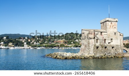 Rapallo (Genoa, Liguria, Italy), the castle on the sea