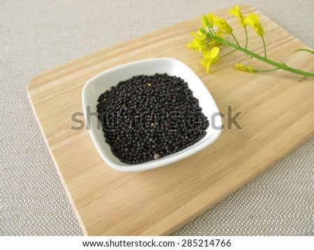 Rapeseeds - stock photo