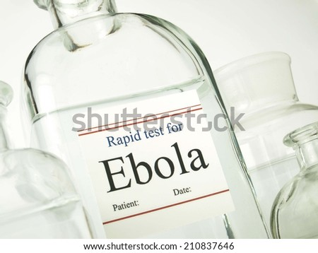 Rapid test for Ebola - stock photo