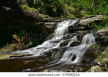 Rapids along Sheoak Creek in Victoria, Australia