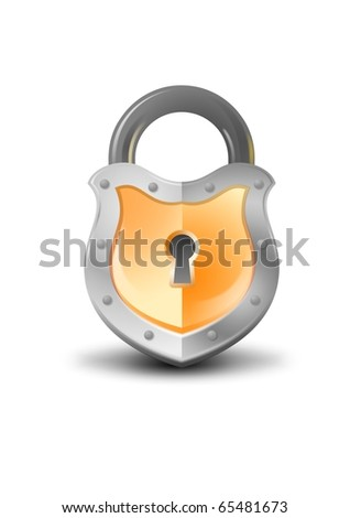 rare lock illustration - stock photo