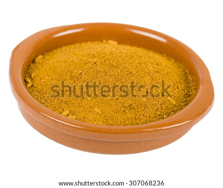 Ras el Hanout - Middle Eastern spice used to to add a lemony taste to salads or meat. - stock photo