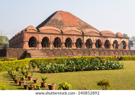 Rasmancha, a 17th century historical temple located at Bishnupur, West Bengal, India - stock photo