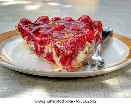 Raspberry cake - stock photo