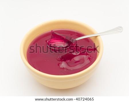 raspberry gelatin - stock photo