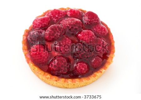 Raspberry pie. Sweet food with berry fruits