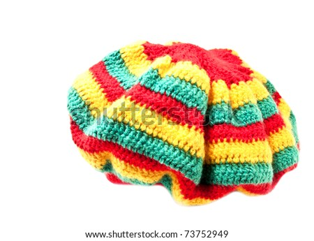 rasta hat - stock photo