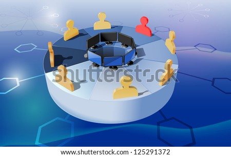 raster abstract concept webinar illustration, vector version available - stock photo
