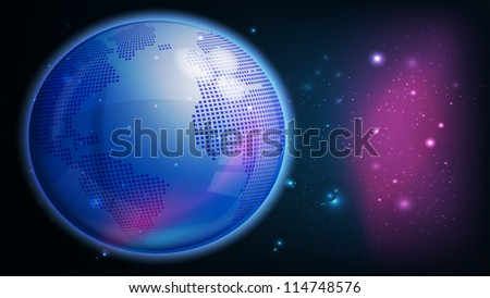 raster abstract technology globe, vector version available