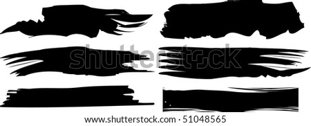 raster black banners set (vector version in portfolio)