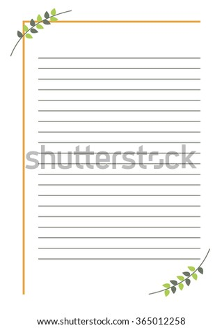 Raster Blank Letter Greeting Card Simple Stock Illustration