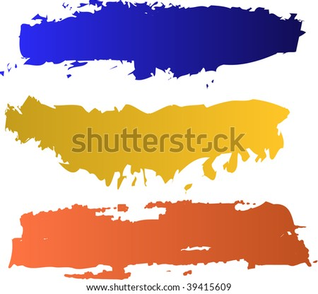 raster color banners set (vector version in portfolio)