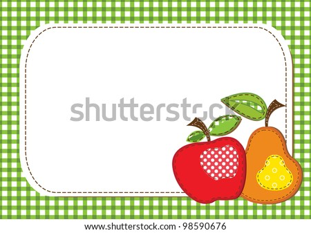 raster fabric fruit background