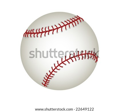 Raster file of a baseball isolated on white