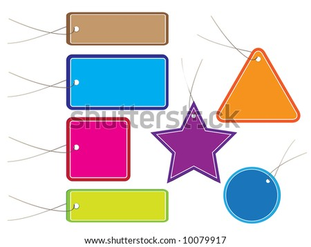 Raster - Glossy colorful sale tag for discount or promotion of your shop items. - stock photo