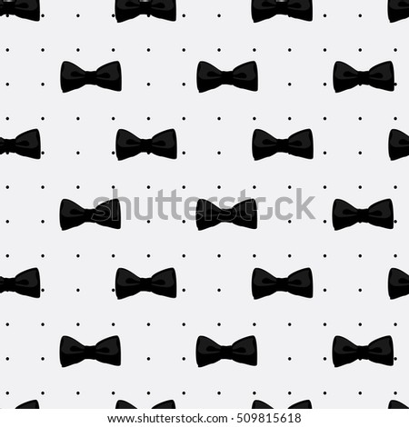 Raster Illustration Bow Tie Pattern Fashion Graphic Background Design Modern Stylish Texture With