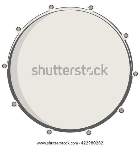 Vector Illustration Drum Top View Drum Stock Vector ...