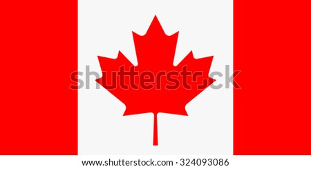 raster illustration of canada flag. Rectangular national flag of canada. Canadian flag - stock photo