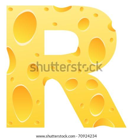 raster image of vector) letter r - stock photo