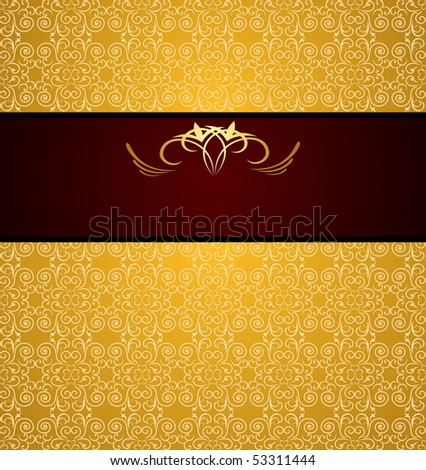 Raster luxury background for design - stock photo