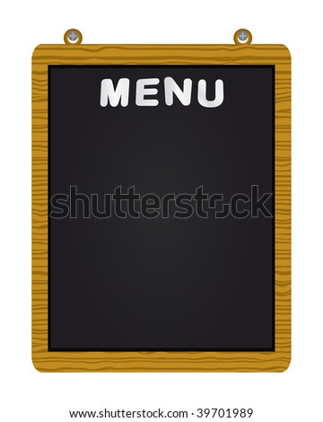Raster menu on blackboard - stock photo