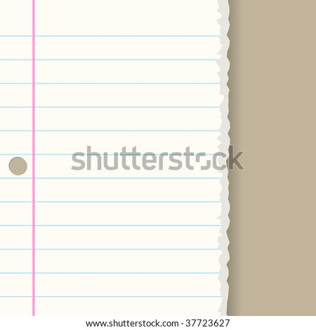 Raster - Ripped paper sheet background with copy space for text - stock photo
