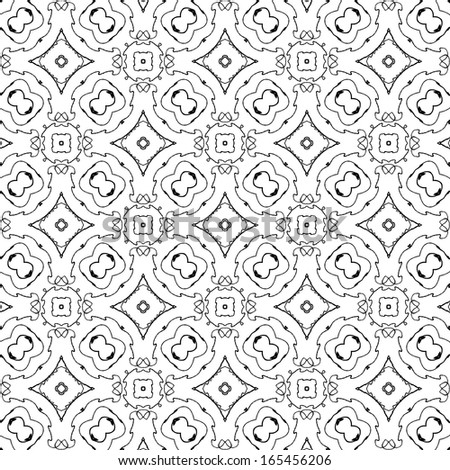 raster seamless abstract line pattern background  - stock photo