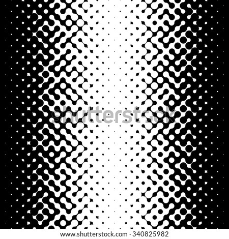 Raster Seamless Black and White Halftone Gradient Pattern Abstract Background - stock photo