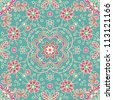 raster seamless vintage floral pattern background - stock vector