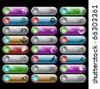 Raster set of internet buttons. 24 elements. - stock photo