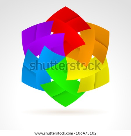 Raster version. Abstract Color Web Elements. Illustration on white for design - stock photo