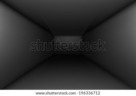 Raster version. Black empty room interior.  Illustration for design - stock photo
