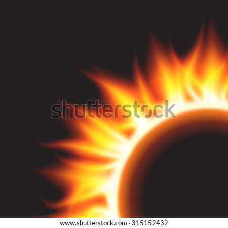 Raster version. Burn flame fire  background.  - stock photo