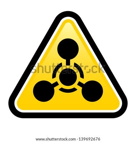 Raster version. Chemical Weapon sign. Illustration on white background for design - stock photo
