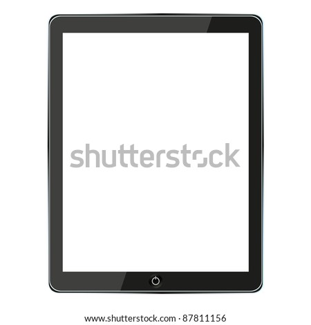 raster version. computer tablet - stock photo