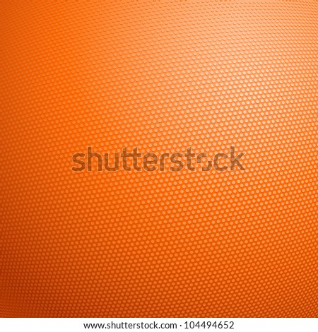 Raster version. Detailed closeup of the texture of a basketball. Illustration for design - stock photo