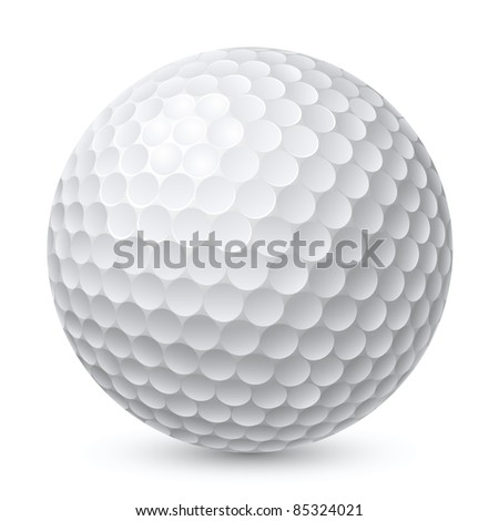 Raster version. Golf Ball. Illustration on white background for design - stock photo