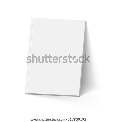 Raster version. Gray Book. Illustration on White. Mockup Template