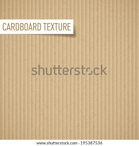 Raster version. Illustration of realistic carton texture. Seamless cardboard pattern - stock photo