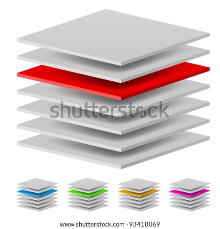 Raster version. Multi layers. Illustration of the designer on a white background - stock photo